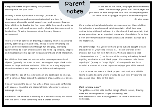 photo of parent notes for drawing books