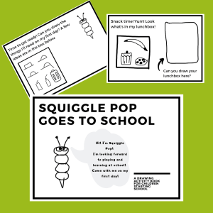 Squiggle Pop goes to school - images