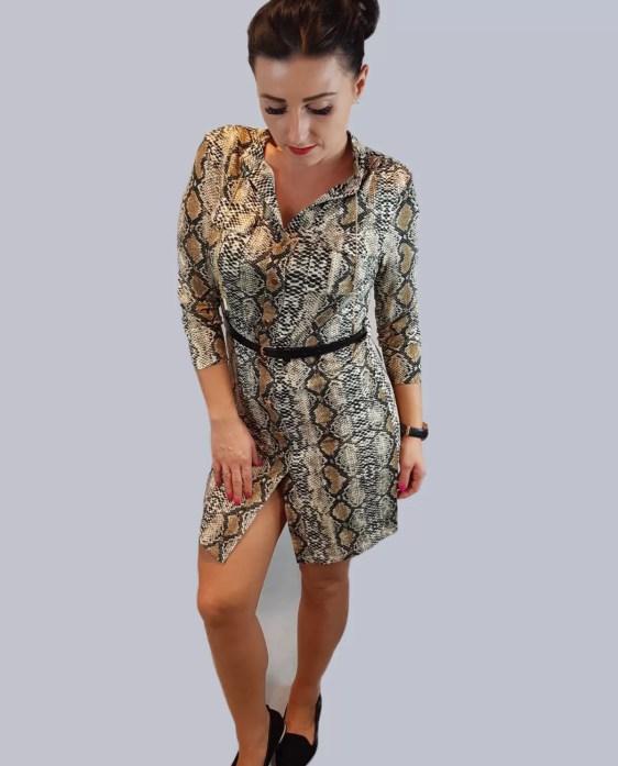 leuke tijgerprint jurk