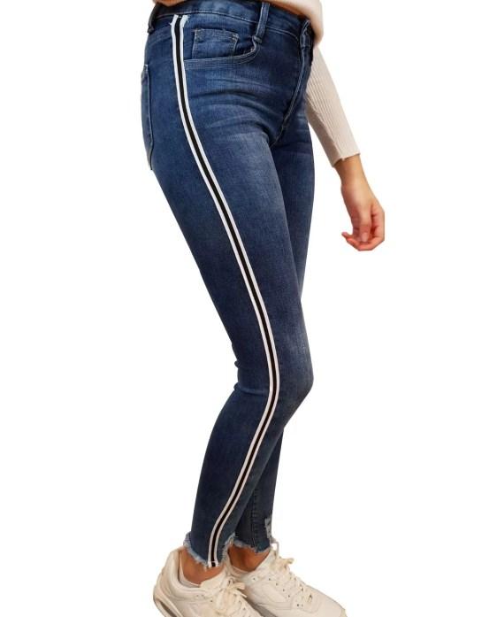Blauwe Spijkerbroek - broeken voor dames - dames broeken