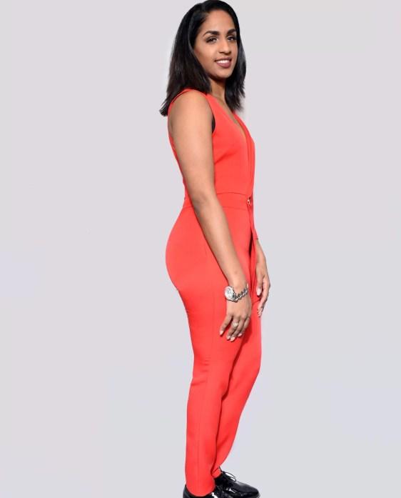 rood jumpsuit dames