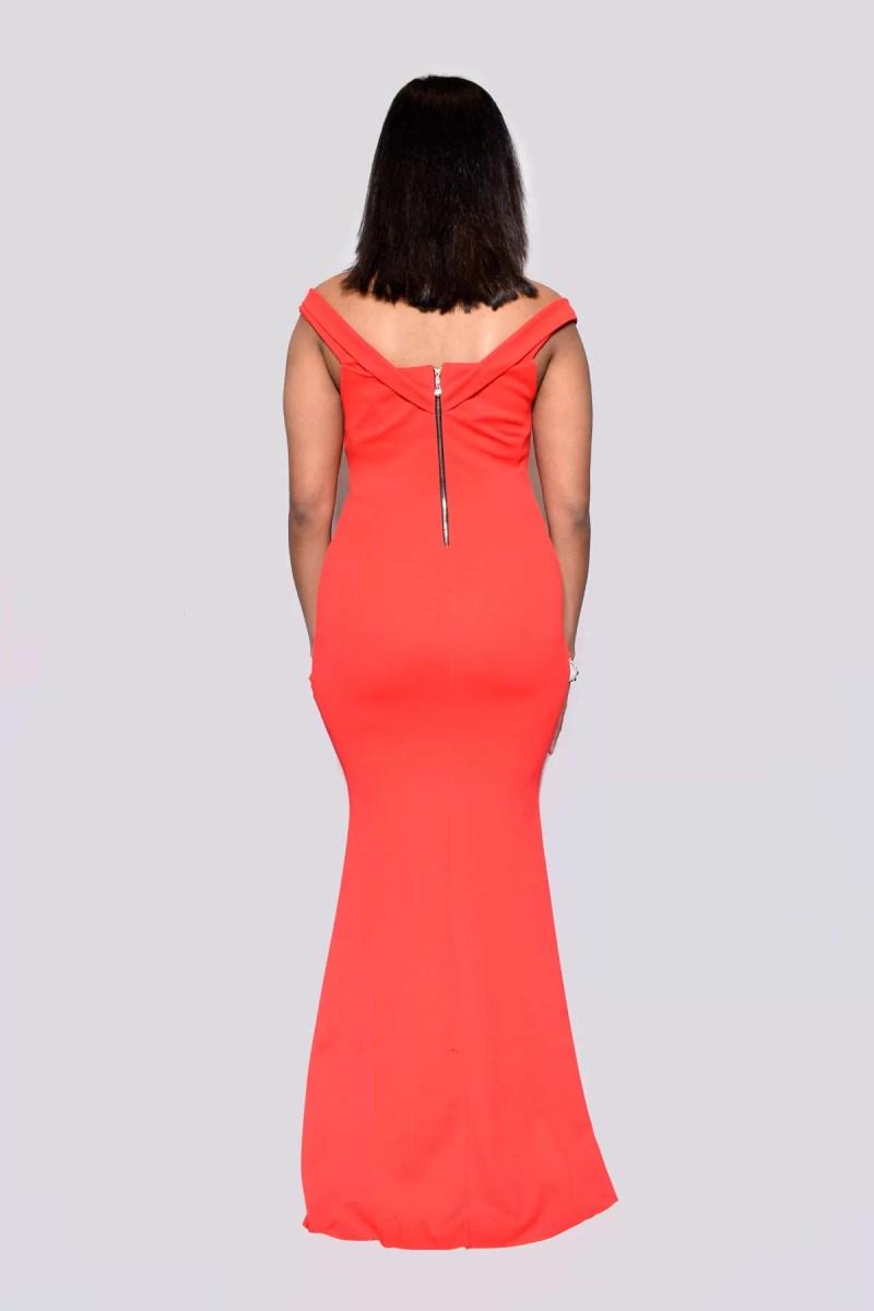 rode jurk dames rug