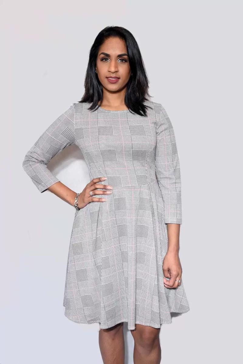 grijs dames jurk