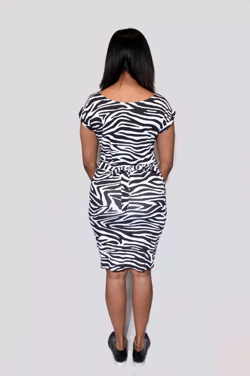 76 1 Zebra Print Jurk