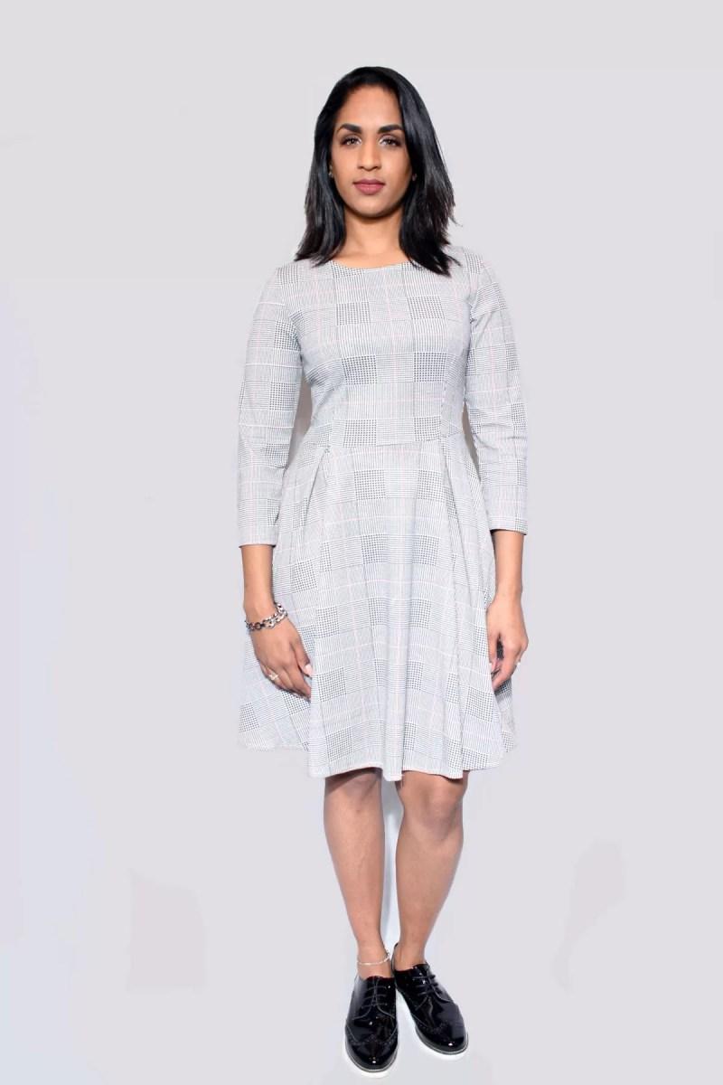 grijze jurk dames