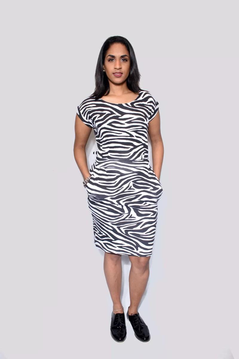 zebra print jurk dames