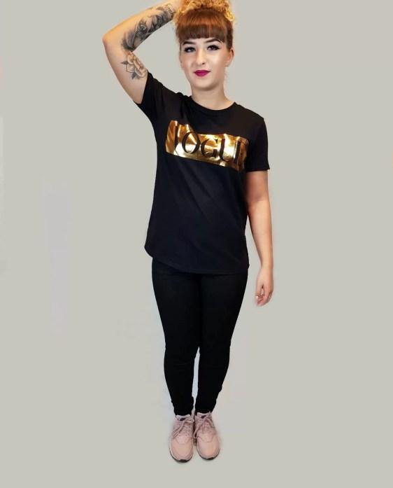 zwart tshirt dames