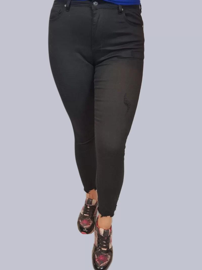 Zwarte Spijkerbroek Strech