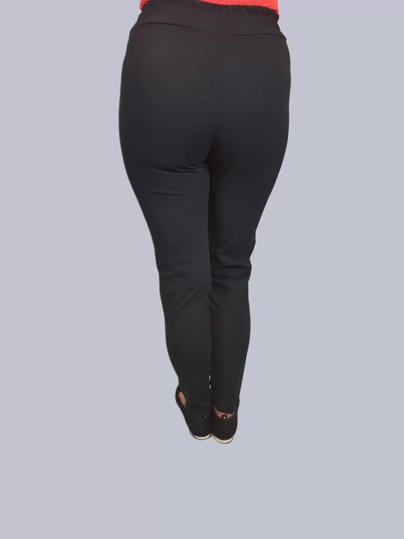 zwarte legging broek met rood streep dames