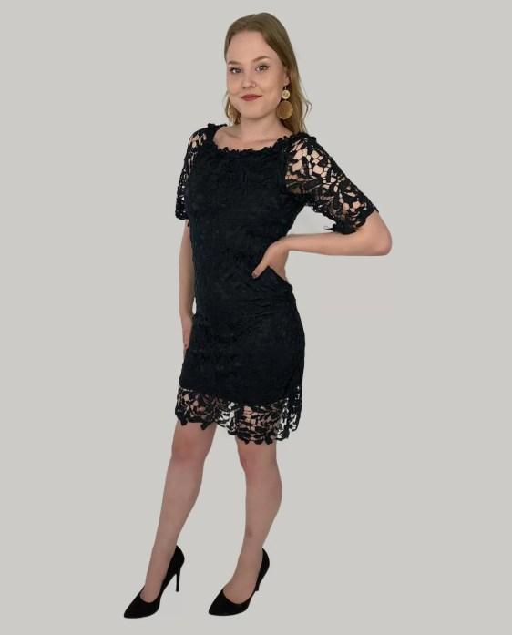 kante-jurk-met-korte-mouwen