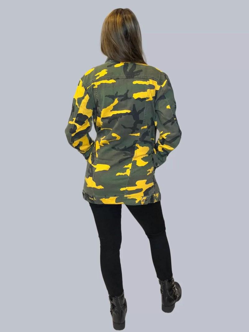 terug leger jas