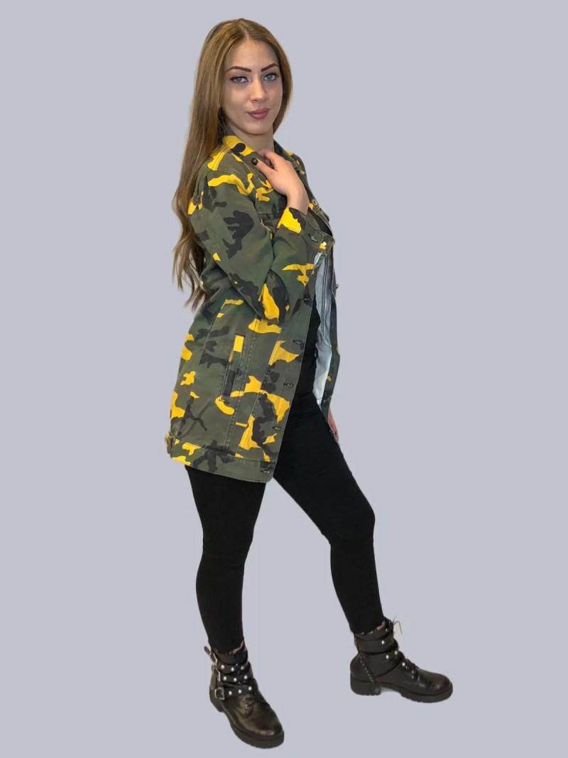 leger spijker jas dames