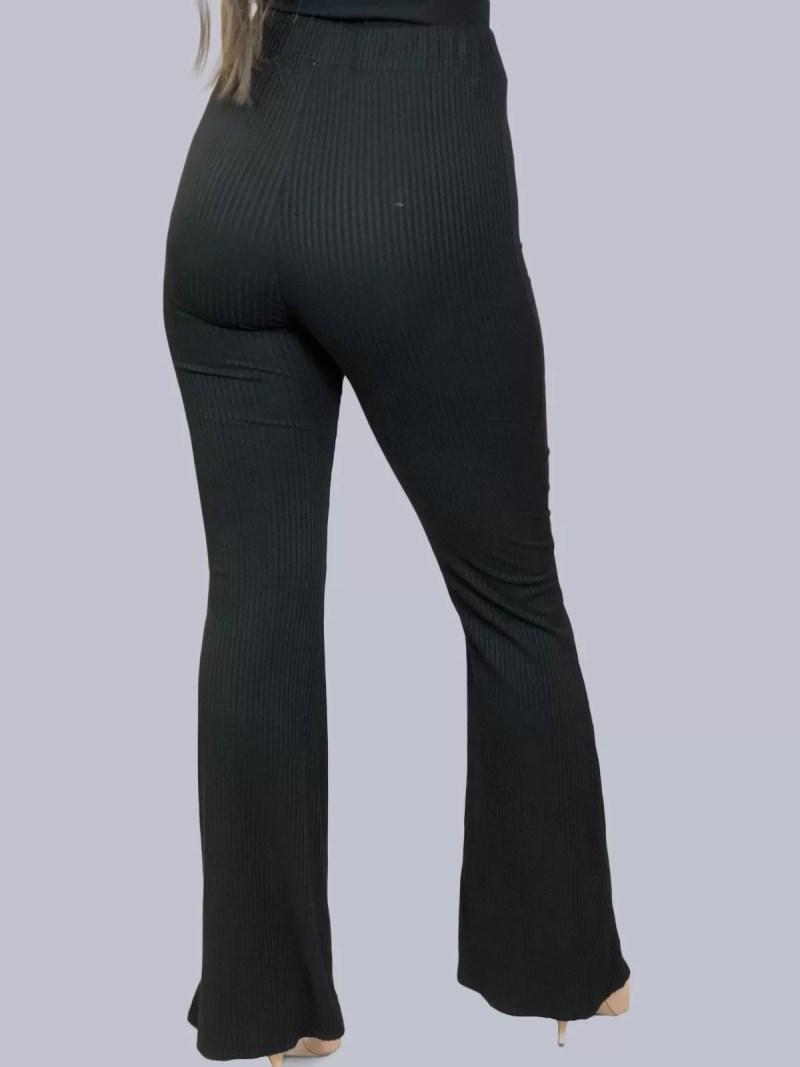 zwart flare broek dames terug