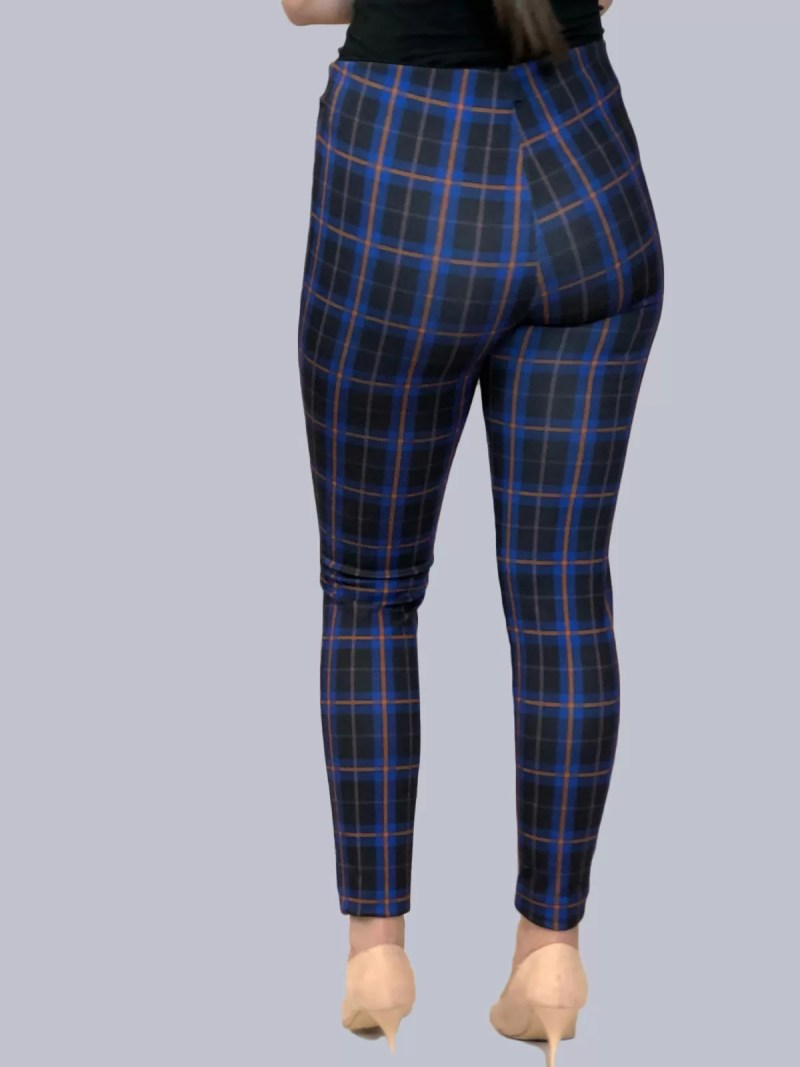terug blauw legging broek