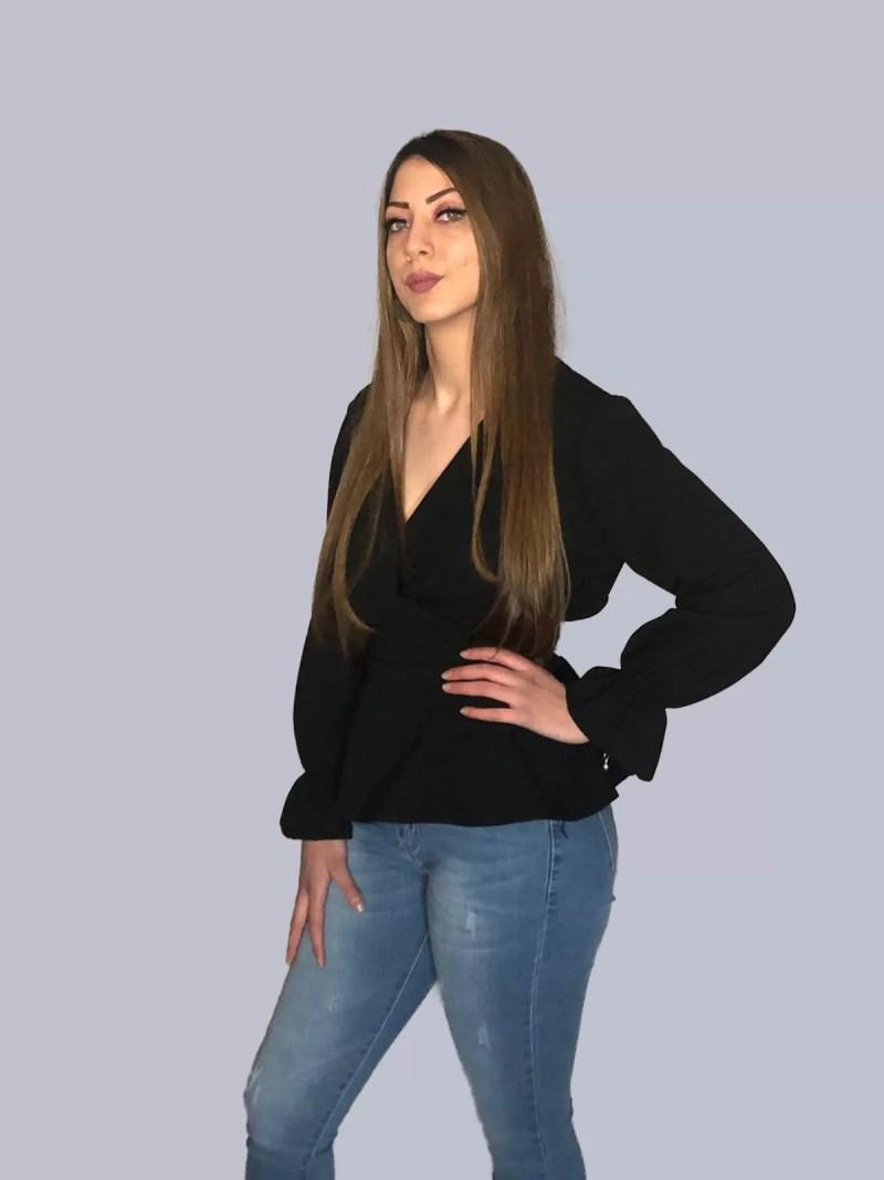 zwart vintage blouse