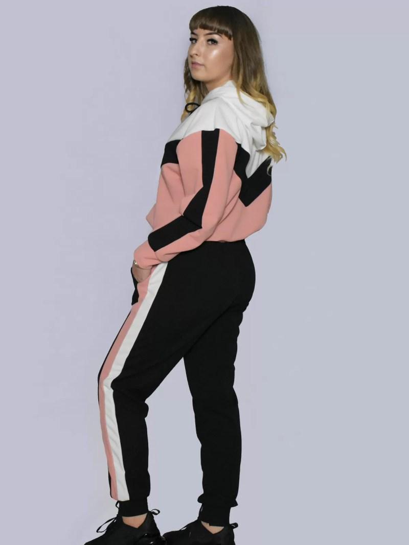 roze zwart wit 2 delig pak