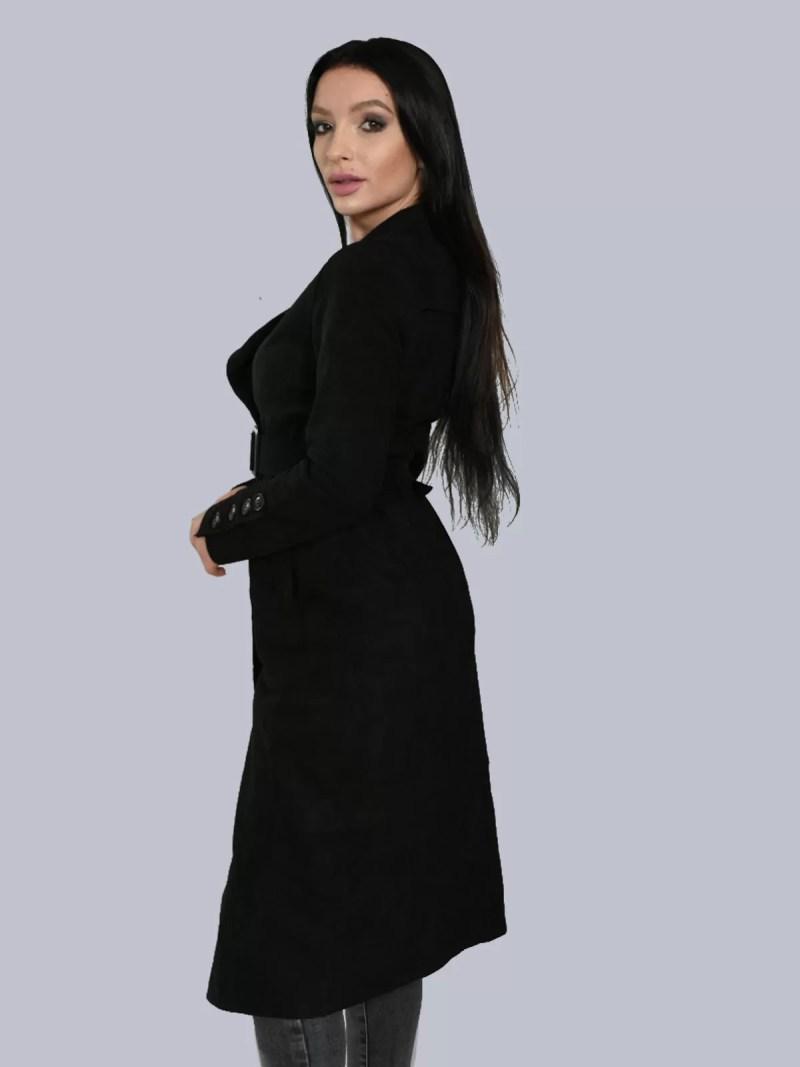 zwart-Lang-Suede-jas-met-riem