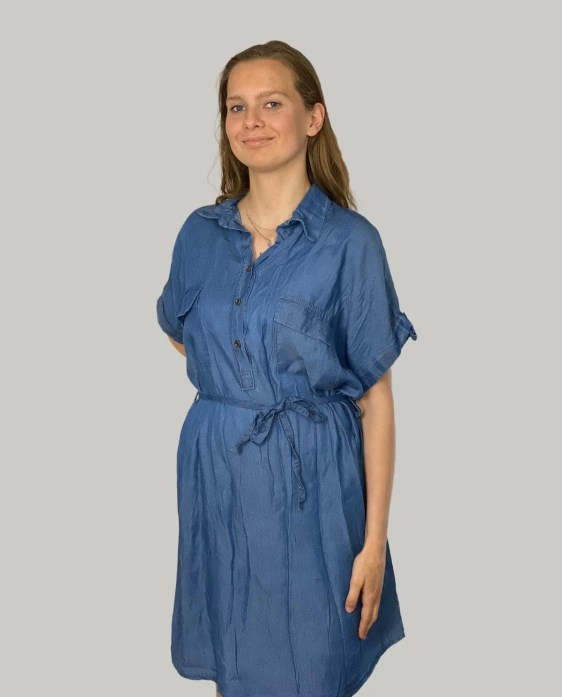Lange-Denim-Blouse