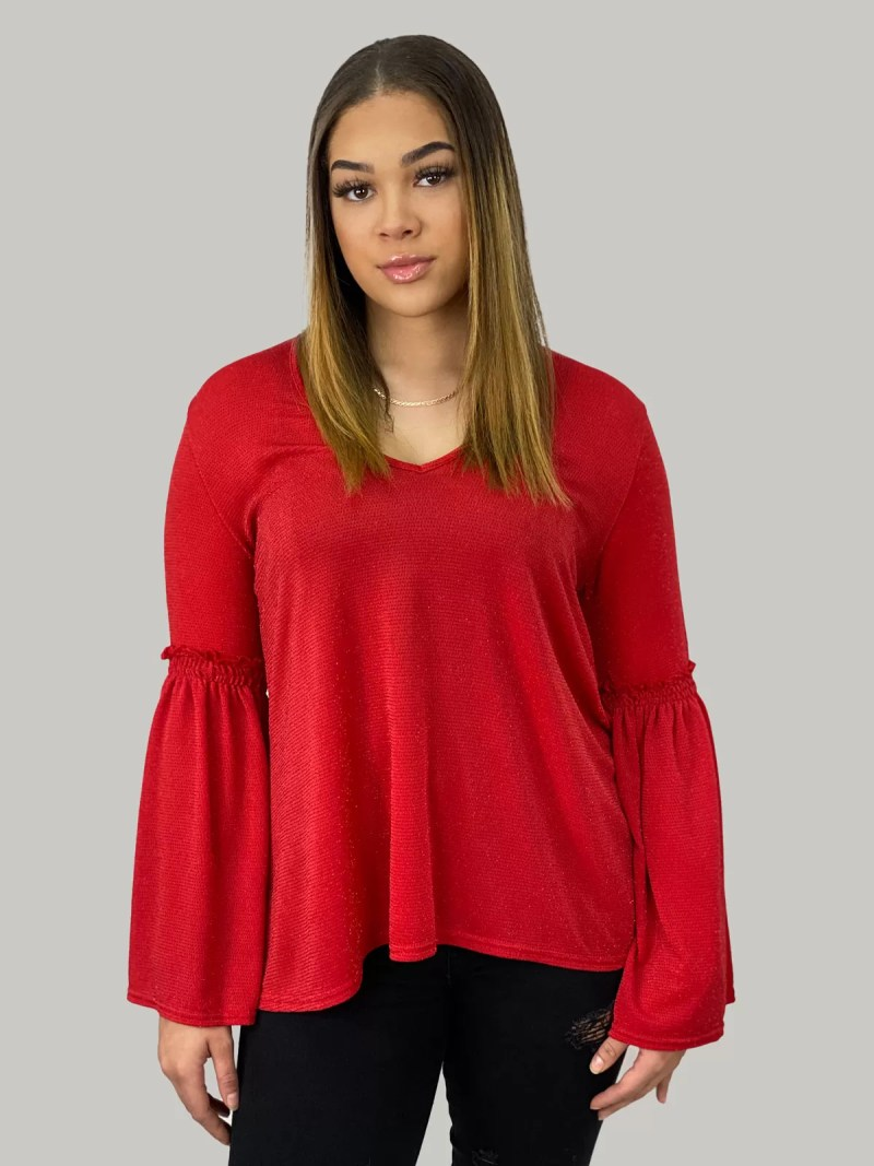 NV 20 411 min Blouse Met Flair Mouwen