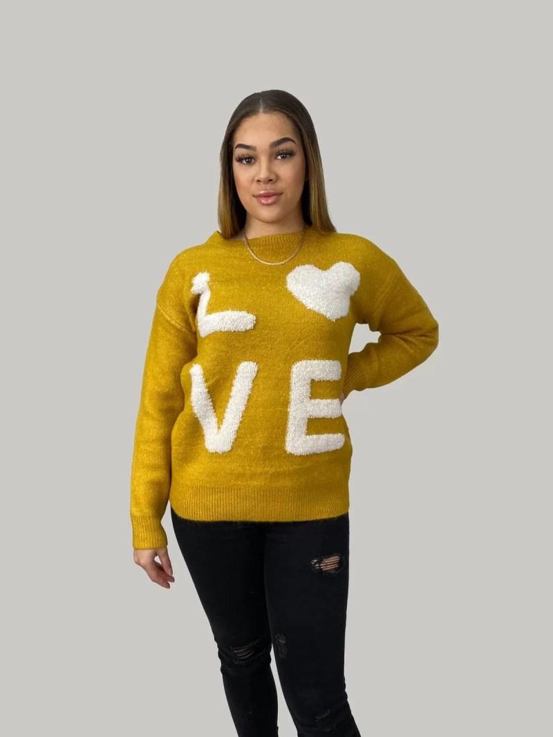 NV 20 464 min Sweater Met Ontwerpen LOVE