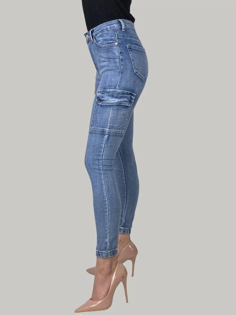 02 21 119 Cargo Skinny Jeans Voor Dames