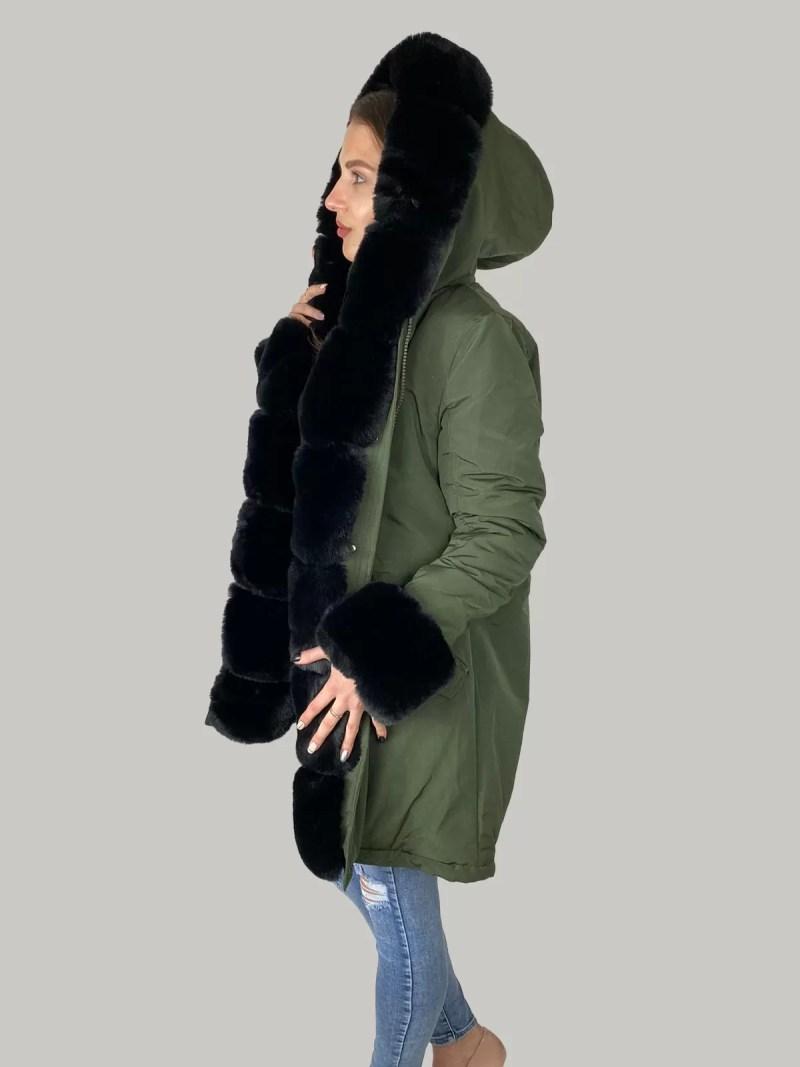 02 21 50 Furry Sleeve Jacket- Dames