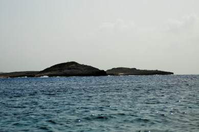 While to the east Scrub island would have cut this familiar shape in the distance