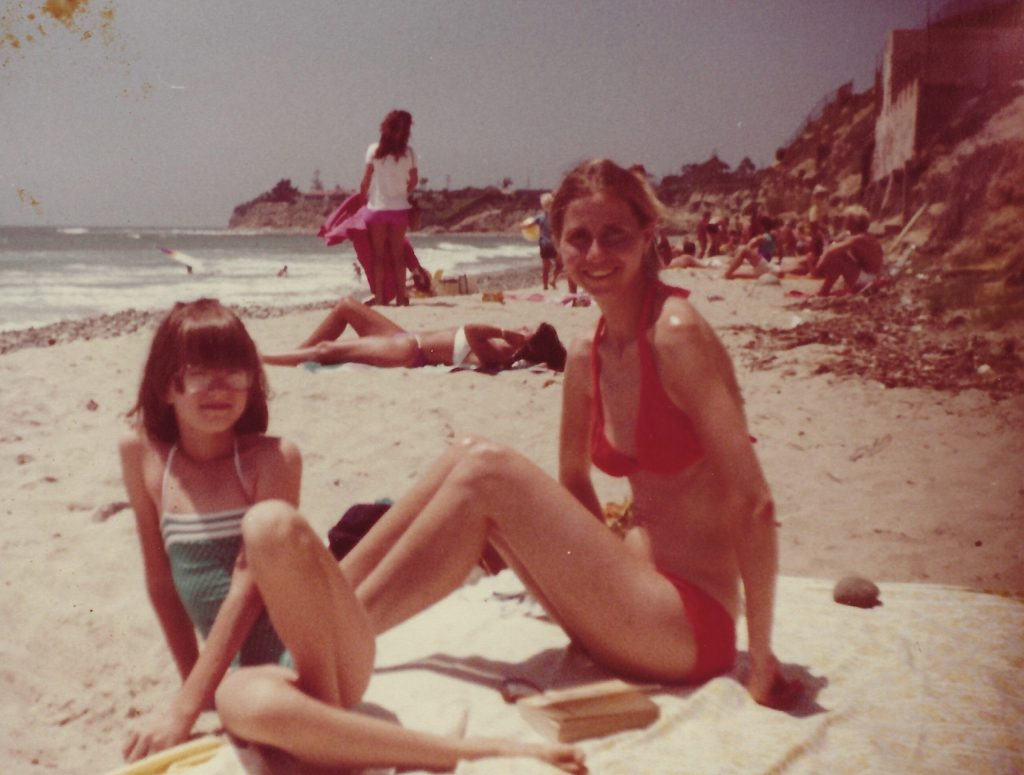 Picture of Larissa and Elizabeth on the beach