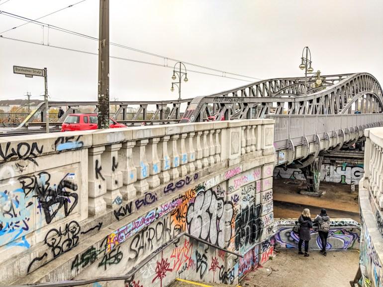 Le Bösebrücke à Berlin