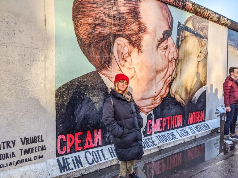 Le Baiser de l'East Side Gallery à Berlin