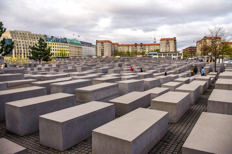 Les stèles de béton du Mémorial juif de Berlin