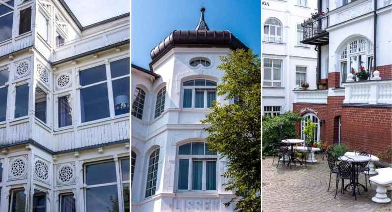 Architecture Belle Époque à Binz, sur l'île de Rügen