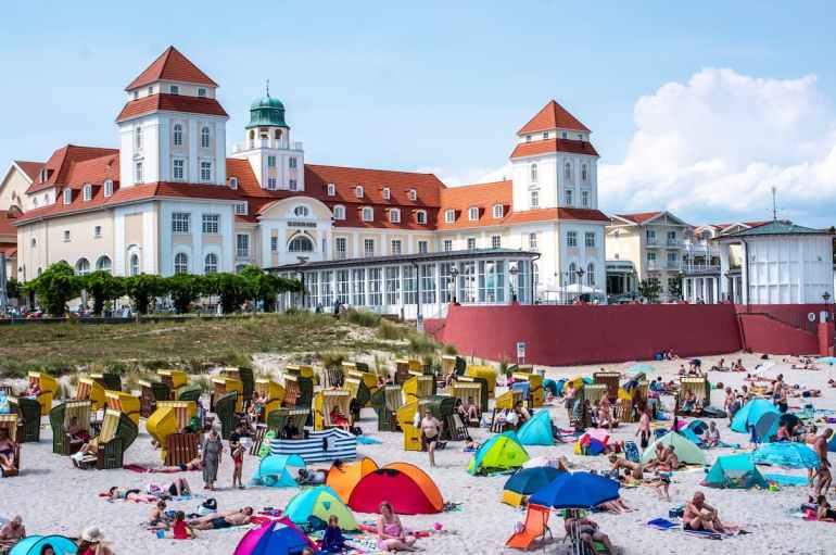 L'hôtel Kurhaus à Binz, sur l'île de Rügen