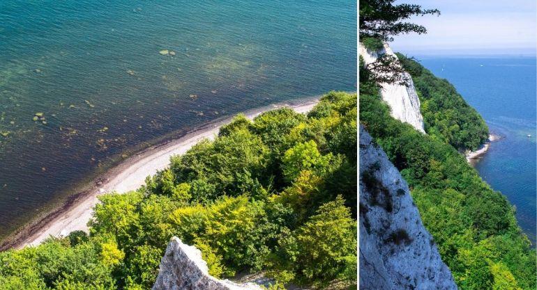Falaises de craie du parc de Jasmund, sur l'île de Rügen en Allemagne