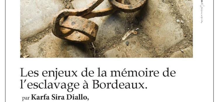 TRESSES- Conférence du président de l'AIMP «Enjeux de la mémoire de l'Esclavage à Bordeaux» – Médiathèque de Tresses (Gironde)- Mercredi 19 mars 2014