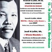 HOMMAGE A NELSON MANDELA, Karfa Diallo et Vincent Maurin appellent à un Rassemblement samedi 16h à la Place de la Victoire à Bordeaux
