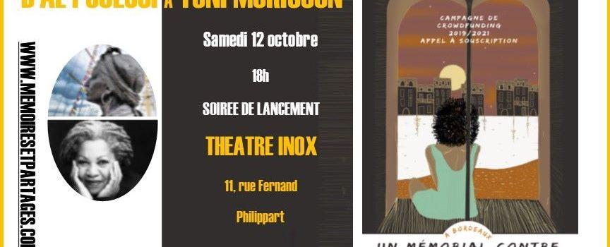 #EVENEMENT- Soirée pour Al Pouessi et Toni Morrison, 12 octobre, Théatre INOX, Bordeaux