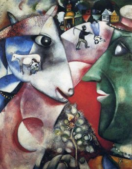 """I and the village"" By Marc Chagall, courtesy of MarcChagall.net"