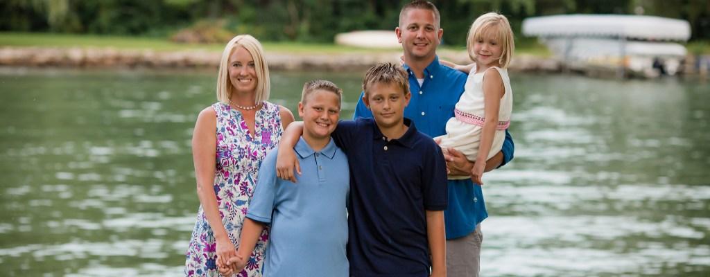 Black River Backyard Family Photo Session