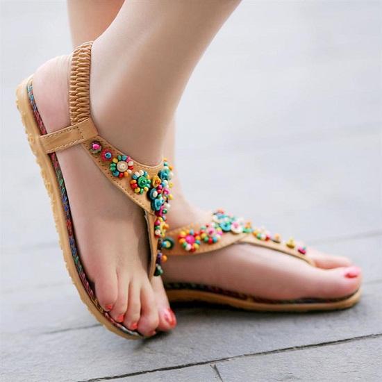 Sandals-female-2013-flat-sandals-casual-flip-flop-sandals