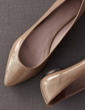 Boden Patent Pointy Flats