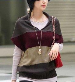 2-Colors-Elastic-Cashmere-Women-Colorful-Stripe-Sweater-Top-Shirt