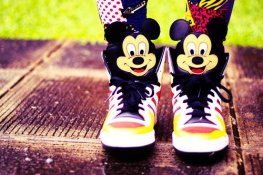 cute mickey sneakers for girls-f01445