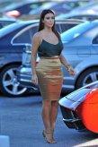 Splurge-Kim-Kardashians-Miami-Donna-Karan-Fold-Over-Metallic-Stretch-Pencil-Skirt