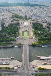 On top of Eiffel tower