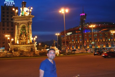 at Plaza de Espanya