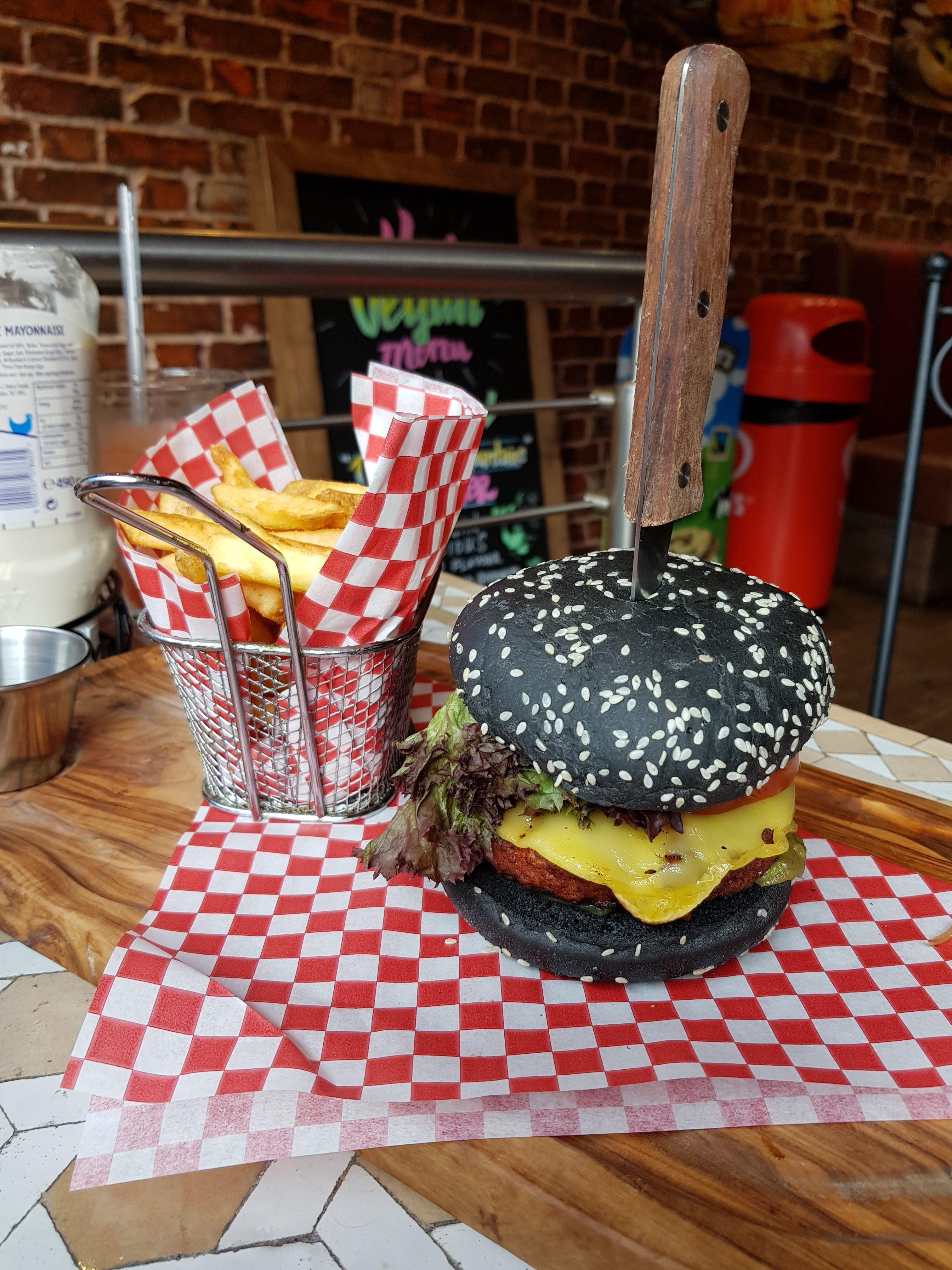 Joe & Co Burgers in Fulham, SW London. the Vegan Moving Mountains burger