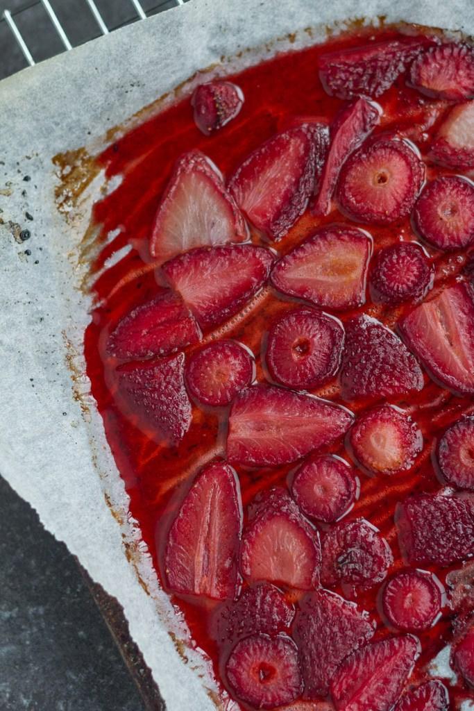 maple roasted strawberries