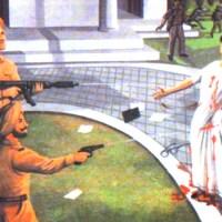 The site of Indira Gandhi's assassination in New Delhi