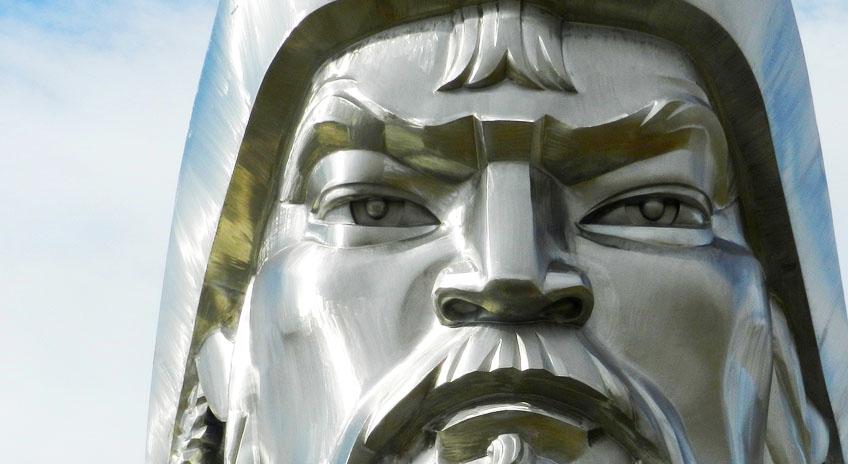 The Equestrian statue of Genghis Khan in Ulaanbaatar